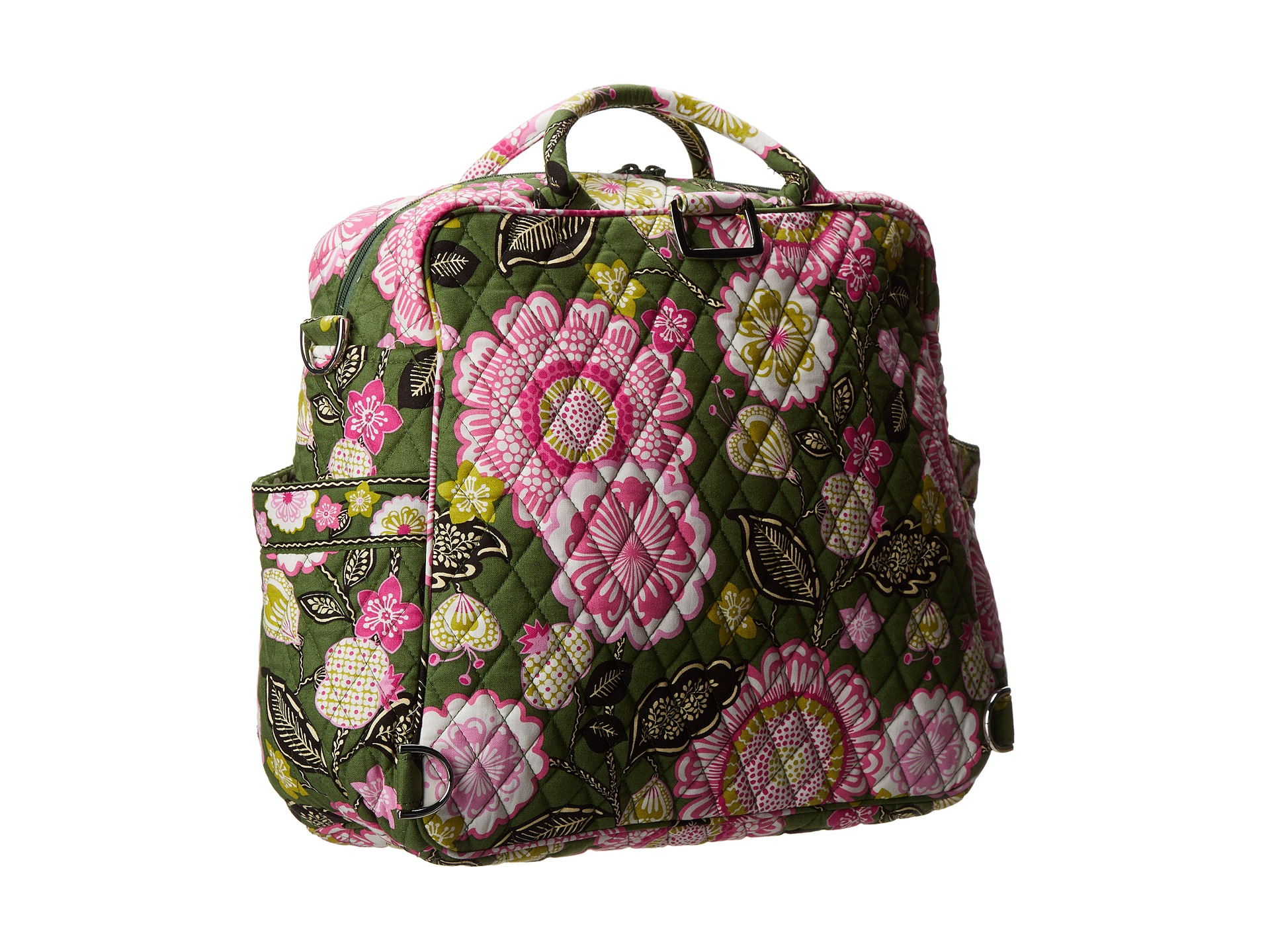 vera bradley convertible baby bag olivia pink shipped free at zappos. Black Bedroom Furniture Sets. Home Design Ideas