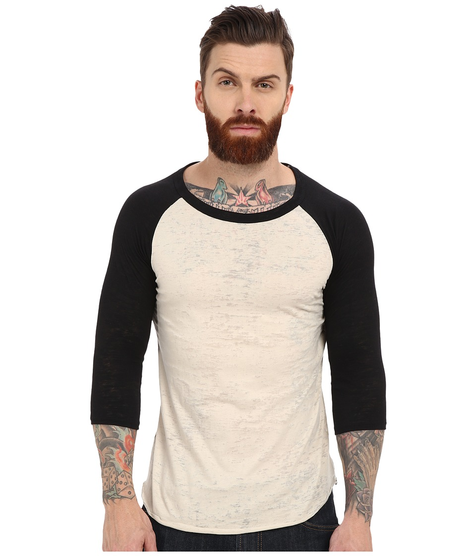 Alternative Big League Burnout Baseball Tee Natural/Black Mens T Shirt
