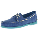 Sperry Top-Sider - A/O 2-Eye Stonewashed (Ocean Blue) - Footwear