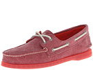 Sperry Top-Sider - A/O 2-Eye Stonewashed (Red) - Footwear