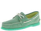 Sperry Top-Sider - A/O 2-Eye Stonewashed (Green) - Footwear