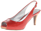 Trotters - Omega (Red Snake Embossed Leather) - Footwear