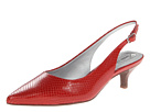 Trotters - Prima (Red Snake Embossed Leather) - Footwear