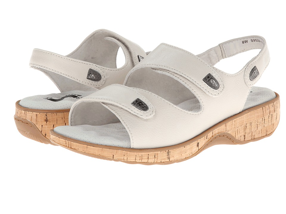 SoftWalk Bolivia (Off White) Women's Sandals, wide width shoes, womens