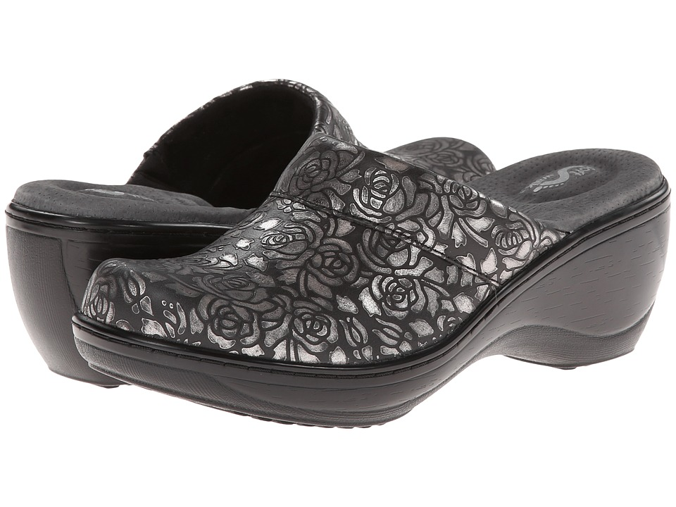 SoftWalk Murietta Black/Pewter Womens Clog Shoes