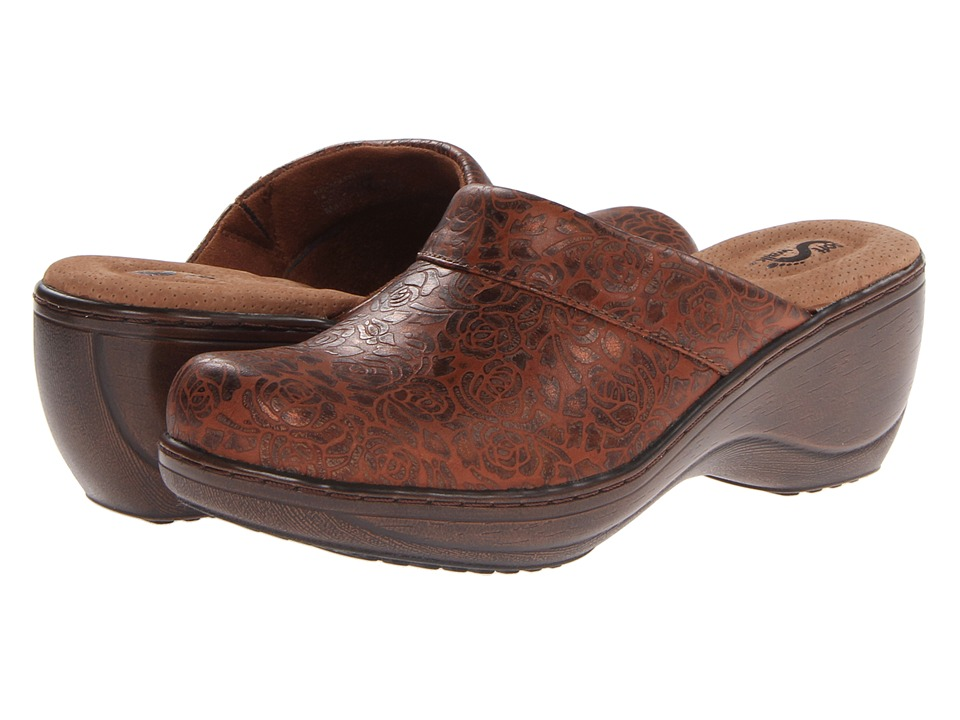 SoftWalk Murietta Rust/Gold Womens Clog Shoes