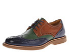 Sperry Top-Sider - Gold Bellingham Wingtip w/ ASV (Navy/Tan/Green) - Footwear