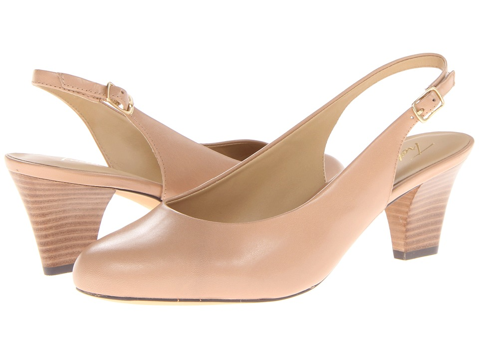 Trotters Pella Nude Glazed Kid Leather Womens Shoes