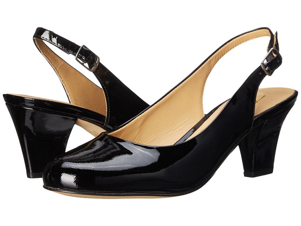 Trotters Pella (Black Patent Leather) Women
