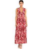 Jean Paul Gaultier - Flower Tulle Tiered Long Dress W/ Stripe