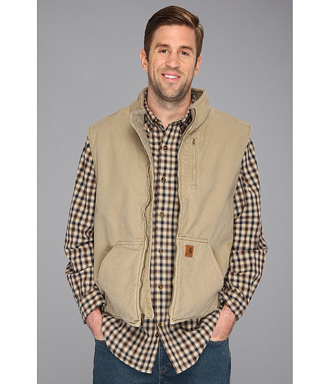 Carhartt big tall sandstone mock neck vest for Big and tall mock turtleneck shirt