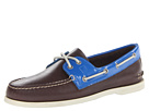 Sperry Top-Sider - A/O 2-Eye Patent (Brown/Blue) - Footwear