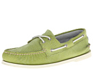 Sperry Top-Sider - A/O 2-Eye Washed (Lime) - Footwear