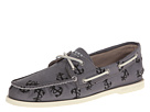 Sperry Top-Sider - A/O 2-Eye Tattoo (Grey Canvas) - Footwear