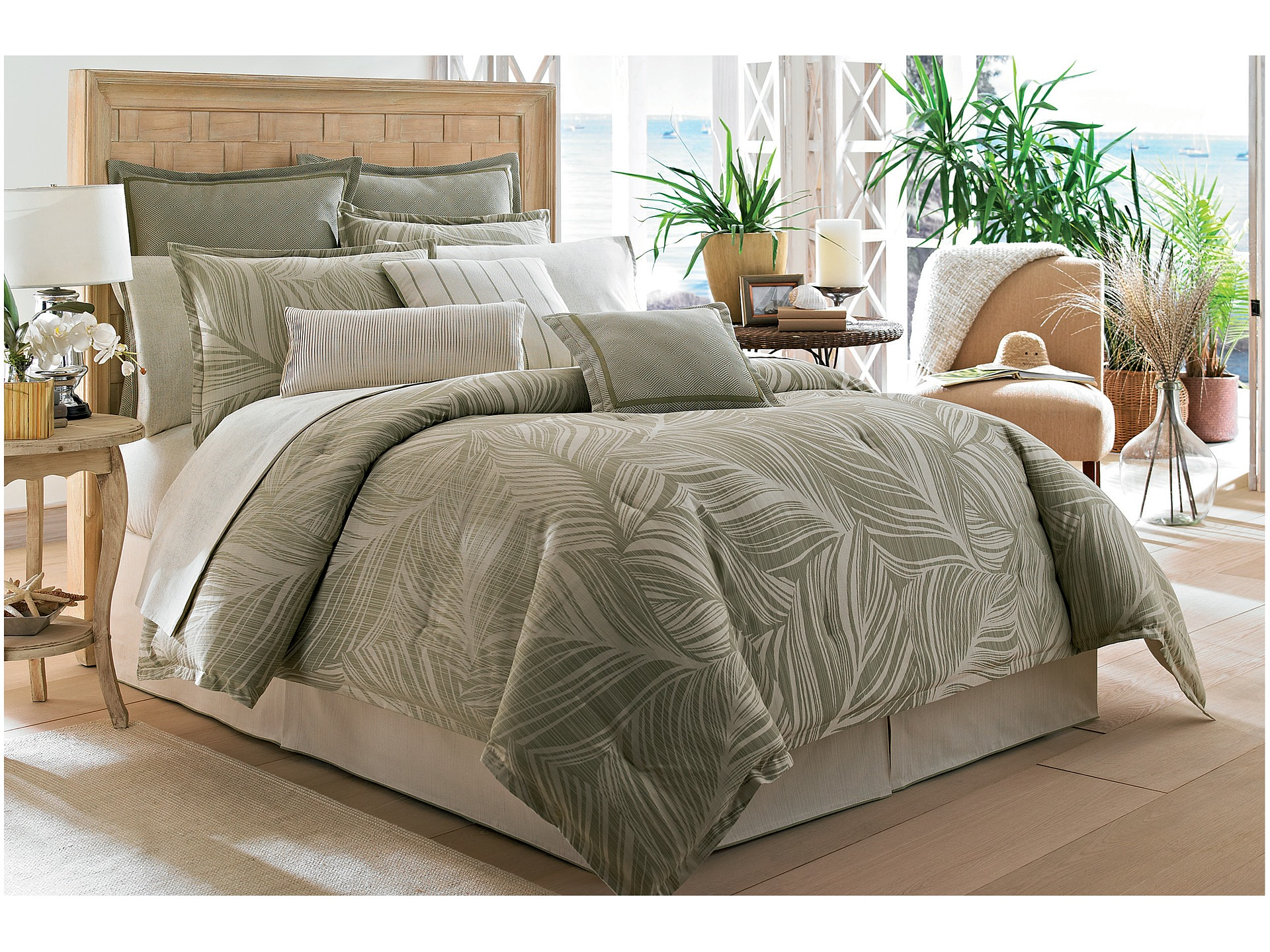 Tommy bahama montauk drifter comforter set california king Tommy bahama bedding