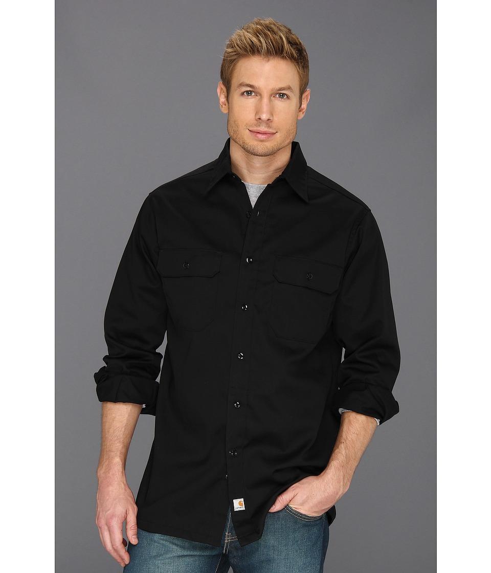 Carhartt - Twill L/S Work Shirt (Black) Mens Clothing