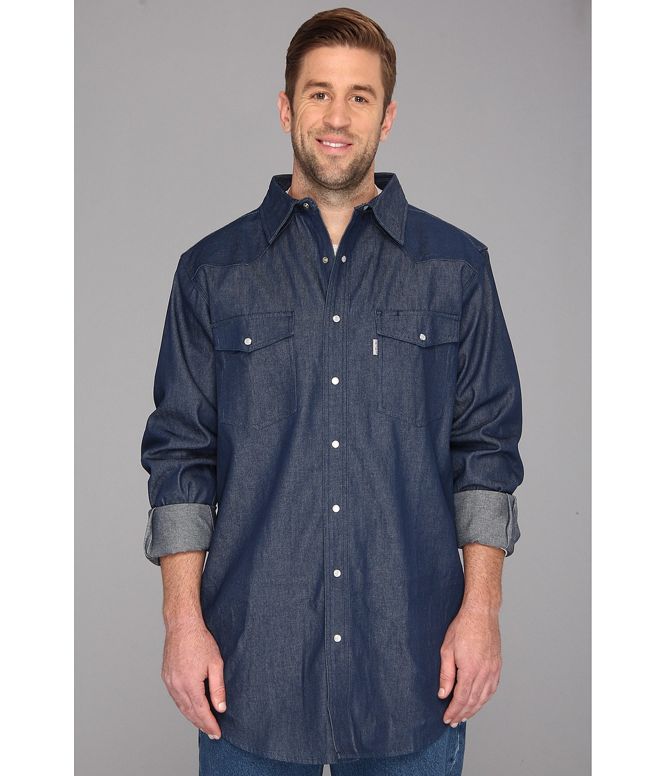 Carhartt Ironwood Denim Work Shirt Tall Rinsed Medium