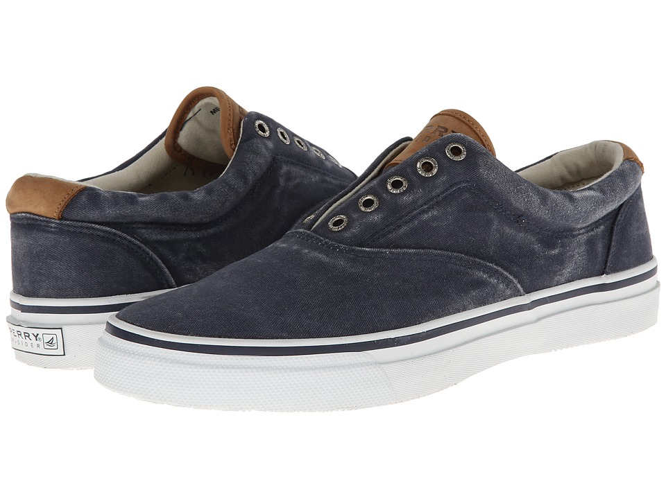 Sperry - Striper CVO Salt-Washed Twill (Navy) Mens Lace up casual Shoes