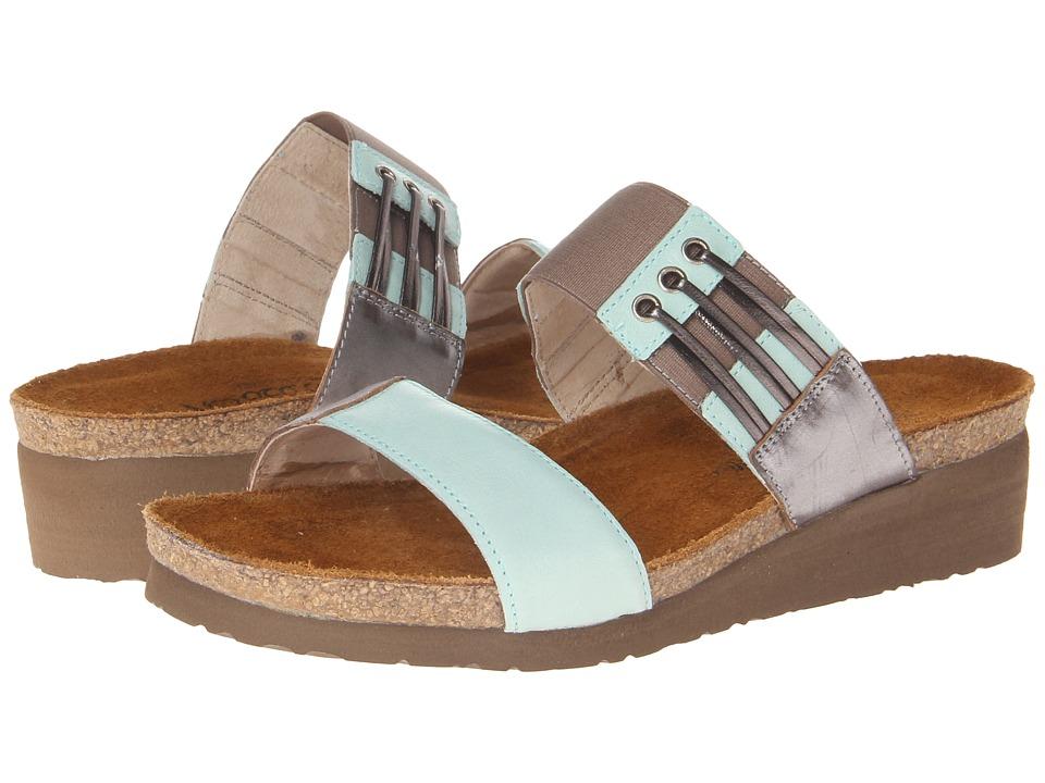 Naot Footwear - Lena (Celadon Leather/Mirror Leather) Women