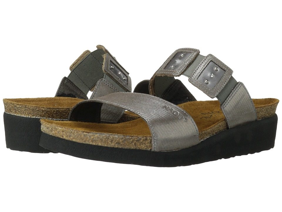 Naot Footwear Emma Silver Threads Leather/Mirror Leather/Silver Threads Leather Womens Sandals