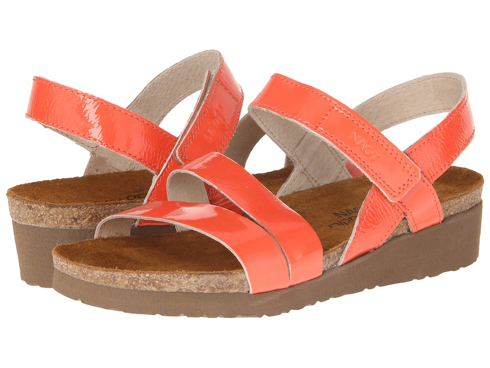 Shop Naot Footwear online and buy Naot Footwear Kayla Coral Patent Leather Women's Sandals online