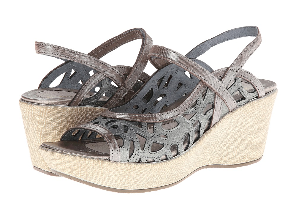 Naot Footwear Deluxe Sterling Leather/Silver Threads Leather Womens Sandals