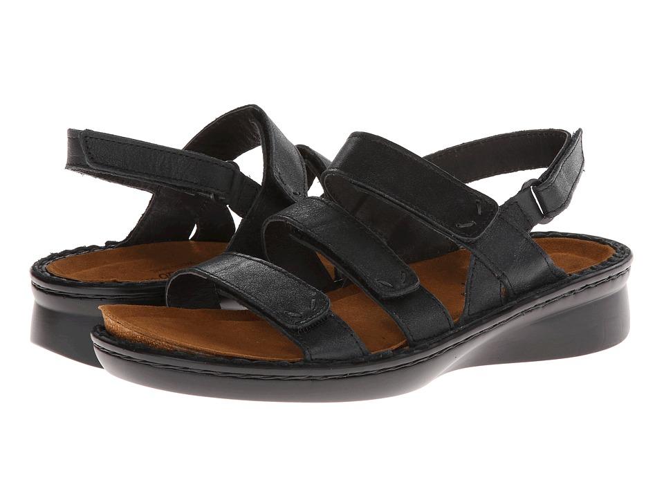 Naot Footwear - Jive (Shiny Black Leather) Women