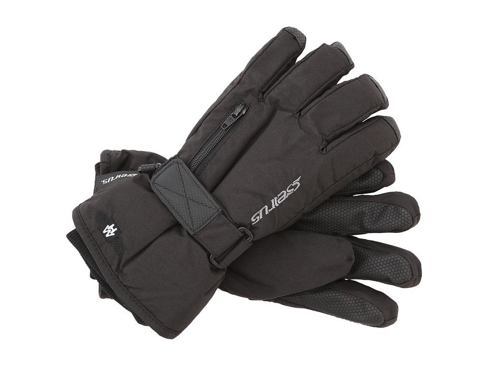 Seirus Heatwavetm Jr Stash Glove (Black) Extreme Cold Weather Gloves