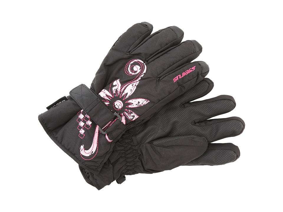 Seirus - Jr Meadow Glove (Black/Fuchsia) Extreme Cold Weather Gloves
