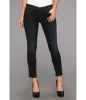 Hudson - Ava Crop Skinny w/ Perforated Leather in Shirley
