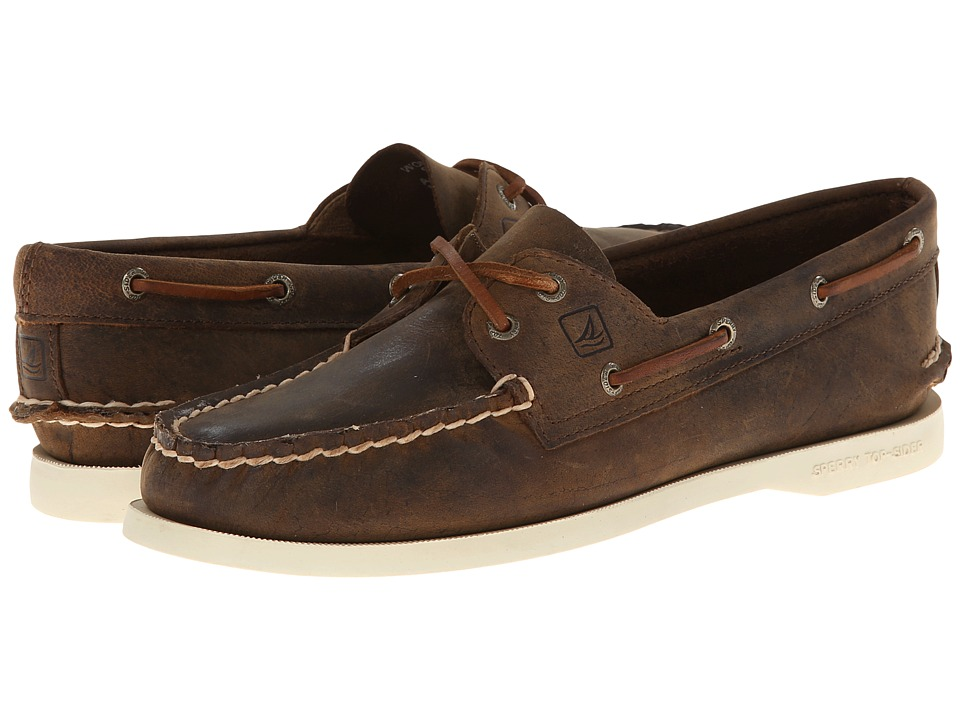 Sperry Top-Sider A/O 2 Eye (Brown Distressed)