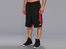adidas - Crazy Smooth Short (Black/Light Scarlet) - Apparel