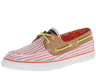 Sperry Top-Sider - Bahama 2-Eye (Hot Coral Seersucker/Sand) - Footwear