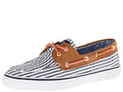 Sperry Top-Sider - Bahama 2-Eye (Navy Seersucker/Cognac) - Footwear