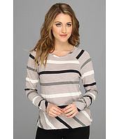 Michael Stars - Wanderlust Stripe Long Sleeve Raglan Sweatshirt