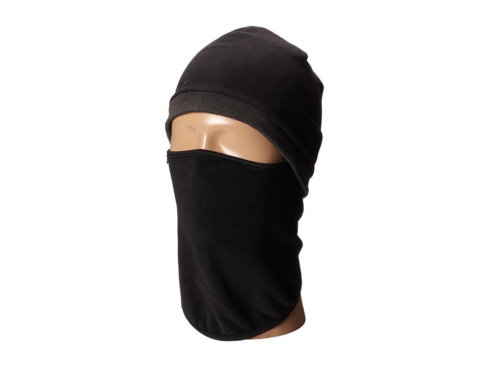 Seirus - Quick Clava Fleece/Knit (Black/Charcoal) Caps