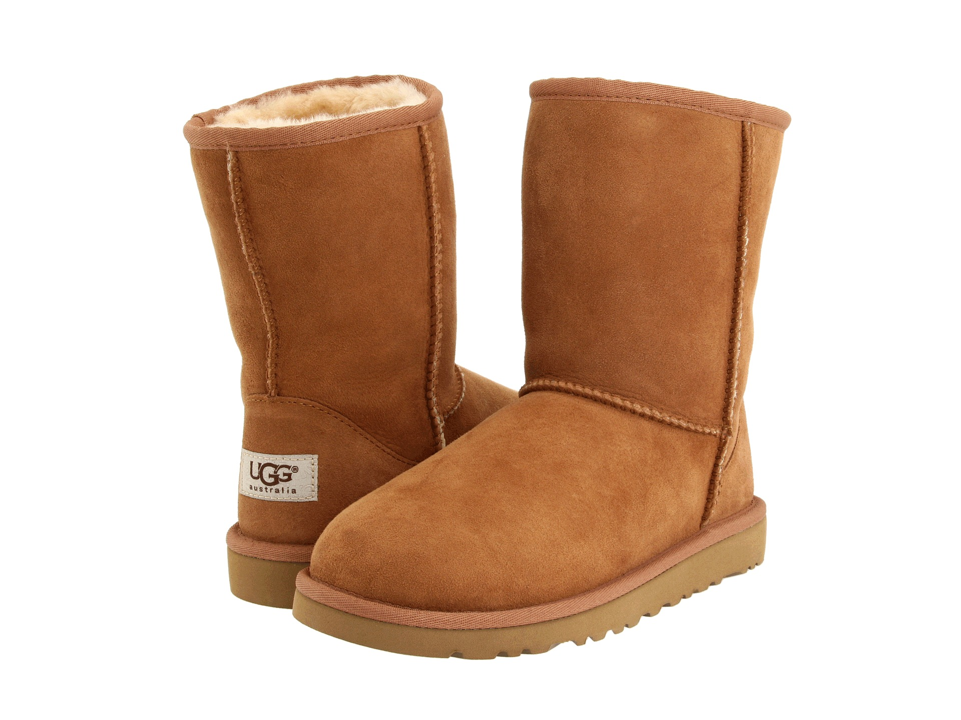 Details: Keep things cute and cozy all season long with the UGG Kids Classic II boot. Signature Twinface upper with a round toe. UGG signature Twinface sheepskin is treated on both sides to provide maximum softness and comfort.