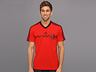 adidas - Mexico Away Replica Tee (Poppy/Black) - Apparel