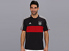 adidas - Germany Away Replica Tee (Black/Victory Red/Matte Silver) - Apparel