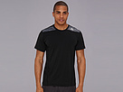 adidas - TECHFIT Fitted Short-Sleeve Tee (Black/Dark Grey Heather) - Apparel