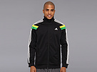 adidas - SE Anthem Jacket (Black/White/Vivid Yellow/Real Green) - Apparel