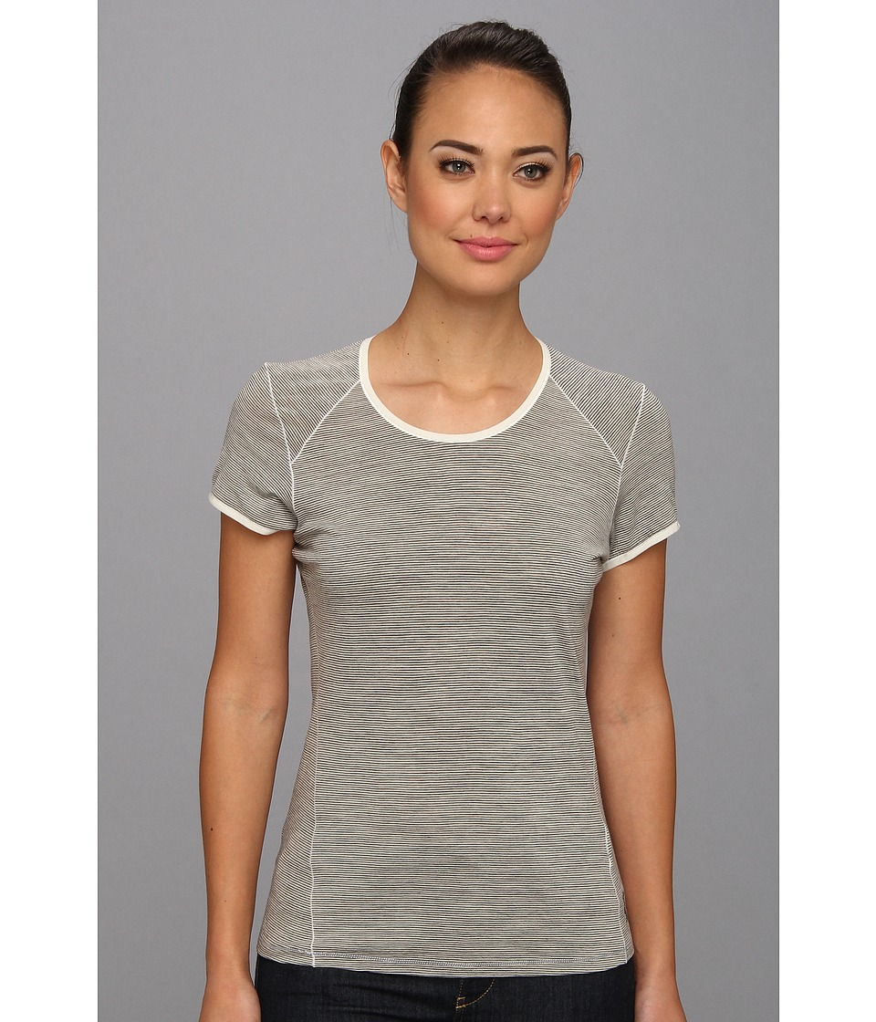Smartwool NTS Micro 150 Pattern Tee (Silver/Grey Heather) Women