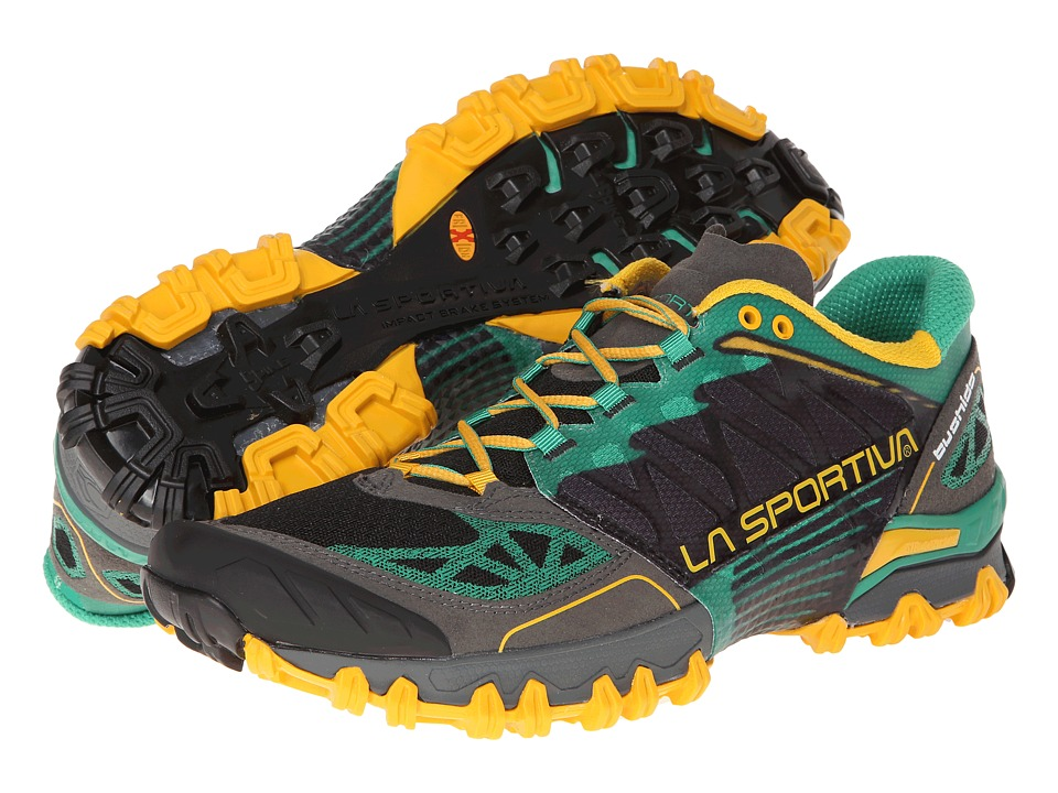 La Sportiva Bushido Light Grey/Green Gecko Mens Running Shoes