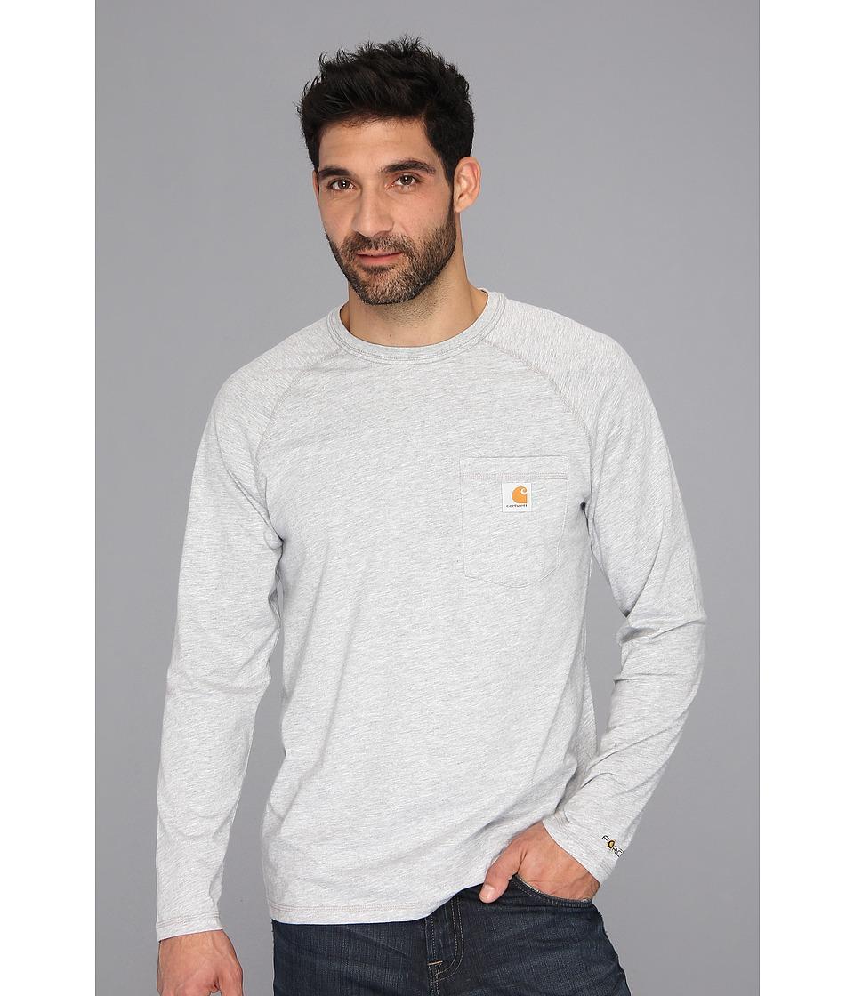 Carhartt - Force(r) Cotton Delmont Long-Sleeve T-Shirt (Heather Gray) Mens T Shirt