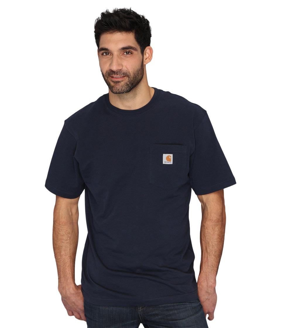 Carhartt Big Tall Workwear Pocket S/S Tee (Navy) Men's Sh...