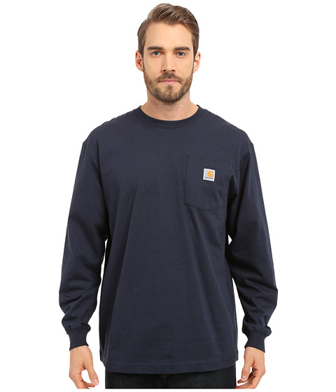Carhartt Workwear Pocket L/S Tee (3XL/4XL) - Navy