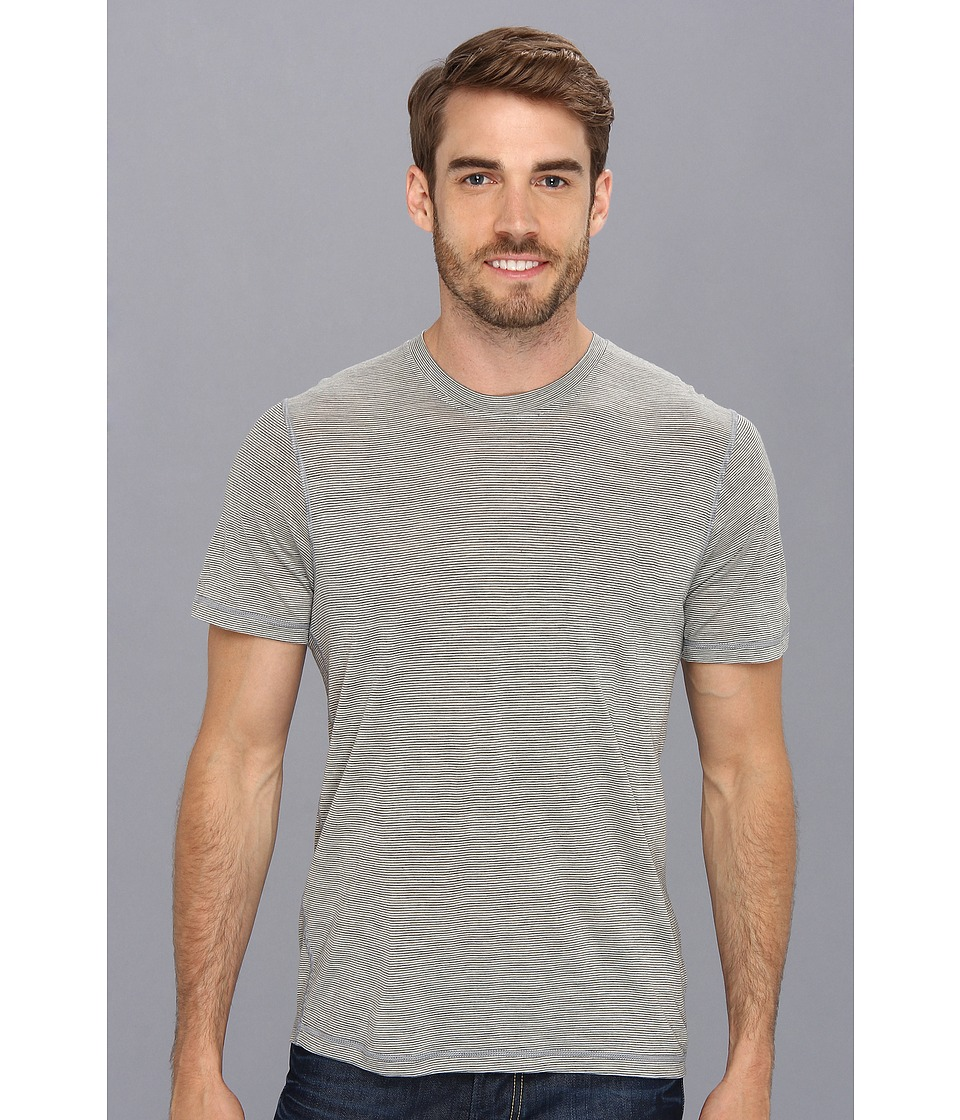 Smartwool NTS Micro 150 Pattern Tee (Silver/Gray Heather) Men
