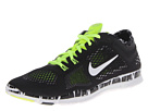 Nike - Free 5.0 TR Fit 4 Print (Black/Volt/Dark Grey/White)