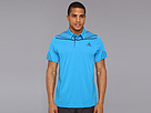 adidas - Adizero Polo (Solar Blue/Tribe Blue/Night Blue) - Apparel