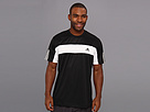 adidas - Tennis Sequencials Galaxy Tee (Black/White) - Apparel